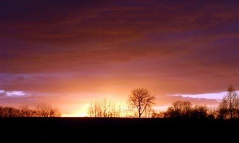 Ein wunderschöner Sonnenuntergang