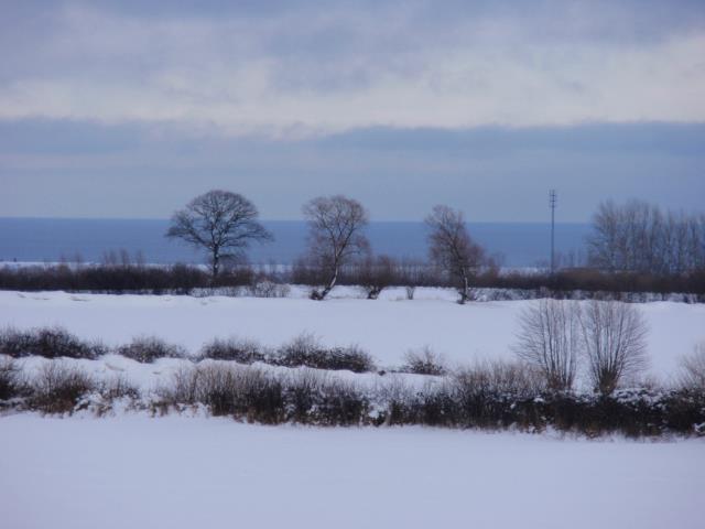 Winterlicher Ostseeblick vom Ferienhaus