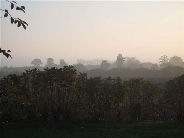 Ostseeblick vom Ferienhaus im Morgengrauen